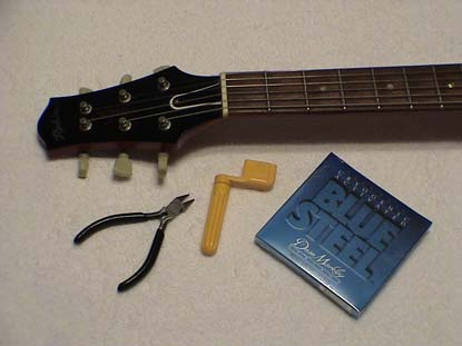 how to change a guitar string electric guitars learn to play. Black Bedroom Furniture Sets. Home Design Ideas